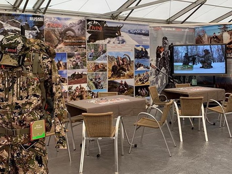 ovin expeditions stand salon chasse faune sauvage 2019